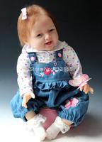 Free shipping TOP QUALITY 55cm reborn baby doll same quality adora baby doll  kids' gift bjd doll DIY doll