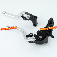 Adjustable Motorcycle Brake Clutch Levers w/ Adapter For Yamaha YZF R1 2004-2013 & YZF R6 2006-2013 Silver High Quality