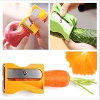 New Carrot Cucumber Sharpener Peeler Kitchen Tool Vegetable Fruit Curl Slicer