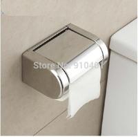 Hot Sale! Modern Square Polished Chrome NEW Chrome Stainless Steel Bathroom Toilet Paper Holder Tissue Box