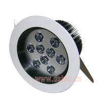 CE,good quality 9W LED ceiling light,110-250VAC with LED driver,DS-CSL-55,9X1W,Warmwhite,white,