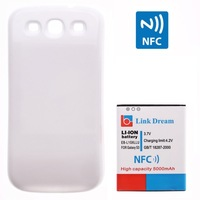 Link Dream High Quality 5000mAh Mobile Phone Battery with NFC Cover Back Door for Samsung Galaxy S3 i9300 EB-L1G6LLU Two Color