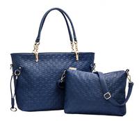 New 2014 Fashion Big Bags Handbags Women Famous Brands Messenger Bag Women Leather Handbags + Small Shoulder Bag 2pcs/lot