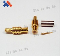 10PCS RF connector MCX male crimping for RG316 RG174 LMR100 cable free shipping