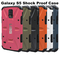 Dropproof Shockproof PC+TPU Combo Case Hybrid Armor Robot Hard Back Cover For Samsung Galaxy S5 I9600 + Package+Freeshipping