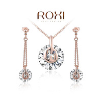 ROXI Brands women Crystal Ball jewelry sets,rose  Austrian crystal,Nickeless jewelry sets,free shipping,wholesale ,best gifts