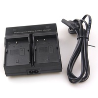 Dual Channel Battery Charger FOR Nikon EN-EL3e D700 D300S D300 D200 D100 D90 D80+Free shipping (tracking number)