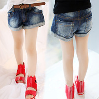 Children's clothing 2014 trousers child jeans summer female child denim shorts baby shorts
