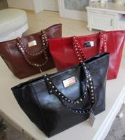 2013MNG new MANGO MANGO contracted soft leather shoulder bag handbag aglet rivet decoration free shipping