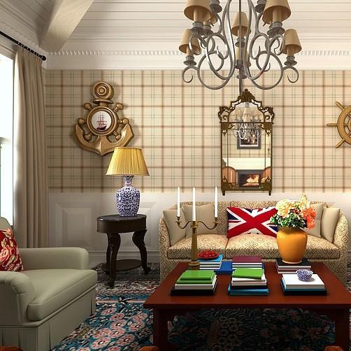Scottish fashion british style plaid woven wallpaper for A t design decoration co ltd