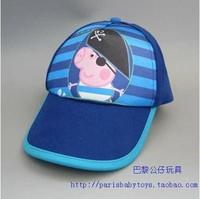 bule Peppa Pig Hat Adjustable Hip Pop Baseball Cap Summer Hat for Girls and Boys Children Gift tourist beach caps Retail 1pcs