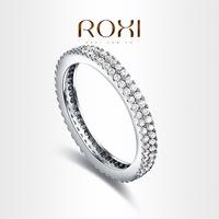 Roxi fashion jewelry hearts and arrows zircon double  finger ring   101032846