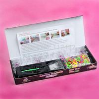 Black box DIY Colorful Loom Bnads Randomly color BANDS Kit Bracelet Set Children's Toy