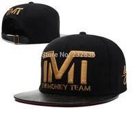 Brand TMT hats The Money Team snapback caps hip hop black leather sports gorras hat top quality men & women's baseball cap cheap