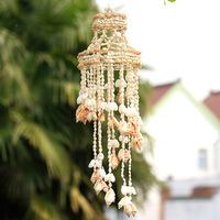 KINGART home decor shell  rotating wind chimes crystal ceramic good looking metal door home hangings