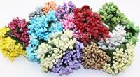 DF002 Mixed Colors Mulberry wedding Flower Bouquet wire stem/Scrapbooking Flower simulation flowers wedding box decoration