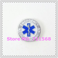 Medical Emergency Floating Charms Medical Symbol Pendant Rod of Asclepius Charm For Floating Locket Accessories