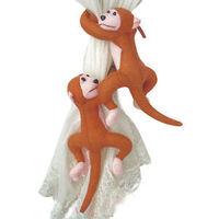 2014 Ver.2 2Pcs Cute Cartoon Plush Monkey Curtain Clasp Accessory Tieback Hook Holder Buckle Home Decor For Child`s Room