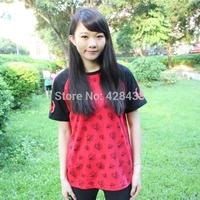 2014 NEW summer men women clothing anime Cartoon Hoozuki no Reitetsu Cosplay costume cotton short sellve red Casual t-shirt tops