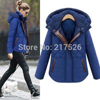 2014 women's winter design short outerwear thermal slim cotton-padded jacket wadded jacket