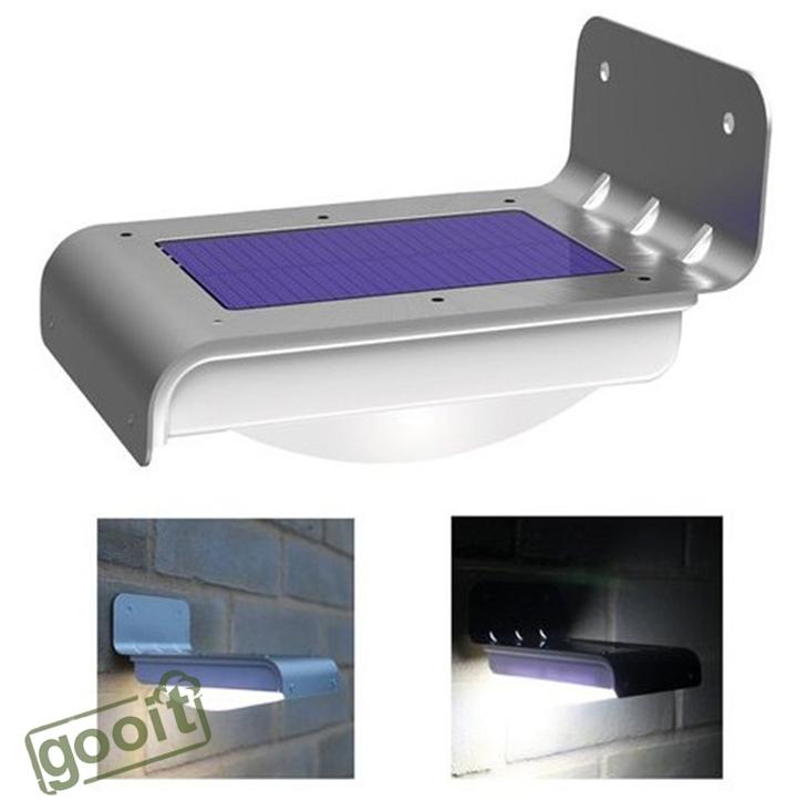 16 led di alimentazione solare del giardino di sicurezza sensore di movimento lampada da esterno lampade a parete impermeabile smd2835 lampade a led per la casa giardino esterno