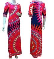 Top Quality!New Arrival European American Style 2014 Autumn Women Big Elastic 100% Jersey Silk Long Dress Bandage Red Dress XXL