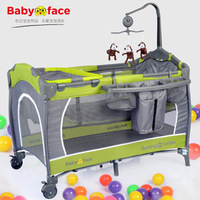 "brand ""Babyface"" security environmental protection baby's bed  game BB non wood folding baby bed multifunctional bed"
