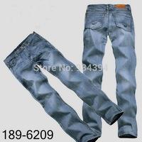 2014 New Fashion Famous Brand Designer Men Jeans Causal Denim Pants Black Blue Plus Size 29-40 Free Shipping