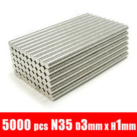 5000pcs 3mm x 1mm disc powerful magnet craft magnet neodymium  rare earth neodymium permanent strong magnet n50 n52 D3X1MM 3X1