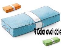 3 Color 90*40*17cm  Underbed Closet Storage bag Case Clothes Divider Organiser quilt Organizer Under Bed Wine bamboo Pouch