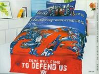 The transformer Optimus Prime cartoon children room 3pcs/4pcs1.2m-1.5m 100% cotton bedding set sheet quilt pillow cover