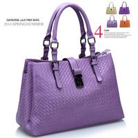 New 2014 Brand Women's Leather Handbags Vintage Messenger Bag Tote Lady Shoulder Bags Cross body weave bag women handbag