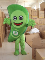 Adult Size Hyacinth bean Mascot Costume Vegetable Costumes Fancy Dress Suit Free Shipping