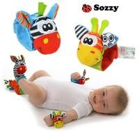 Free shipping, NEW STYLE (4pcs=2 pcs waist+2 pcs socks)/lot,baby rattle toys Sozzy Garden Bug Wrist Rattle and Foot Socks