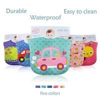 Free shipping new fashion soft baby waterproof bib three layers infant saliva towels Burp Cloths