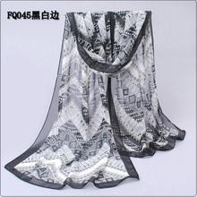 Long Chiffon Silk Scarf/1PC 50*160cm Bohemian Style Geometry pattern print scarf/WJ-267