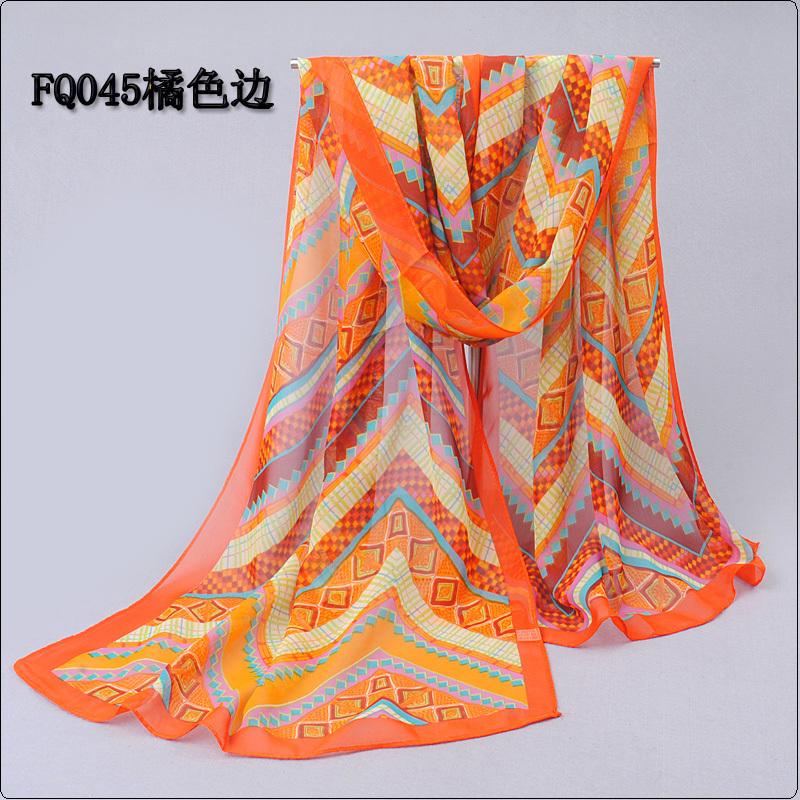 Long Chiffon Silk scarves 1PC 50 160cm Bohemian Style Geometry pattern print scarves WJ 267