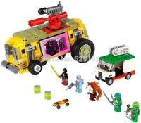 2014 New Arrival! Bela 10211 Teenage Mutant Ninja Turtles Series 627pcs Large DIY Plastic Building Block Sets Den Attack Bricks