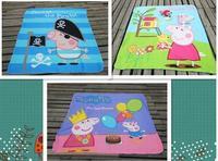 EMS shipping Free Shipping Peppa Pig girl girls blanket fleece material george design