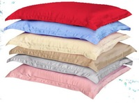100% mulberry silk pillow case solid dye silk fabric ,many color available