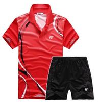 New 2014 Li-Ning Badminton men's Free LI-NING MEN SHIRT badminton shirt+shorts badminton shirt
