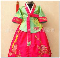 Fabulous Girl Hanbok Korean Girls Dress Boutique Embroidered Floral Gauze Dress Korea Traditional Wedding Princess Dress 1073