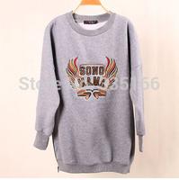 Hot-selling Women Crewneck Sweatshirt Embroidery High Quality Personalized Woman Batwing Sleeve Sweatshirts Pullovers   #JM06887