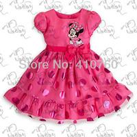 drop shipping new 2014 spring autumn girl dress girls print dresses brand kid baby floral party carton minine children clothing
