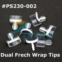 Freeshipping-128pcs Dual French Wrap Tips White Double Wrap Tips Wholesales SKU:A0176