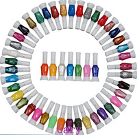 60 Colors Nail Pen Varnish Polish Tool Set & 2 Ways Nail Art Brush Diy