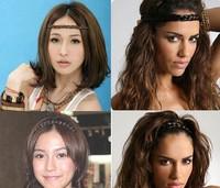 2014 new Fashion wig elasticity neat braid headband Alice band Hair Band Ring Rope Headwear Coiffure hair accessories