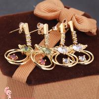 2014 New Fashion Beautiful Butterfly Dangle Earrings for Girls ERZ0418