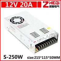 AC 110 v / 220 v - DC12V switching power supply, 20 a, 250 w dc 12 v power supply, monitor power supply, industrial power supply