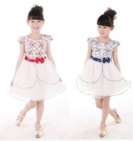 Free shipping new cute child dresses summer models girls dance dress  flower girl dresses
